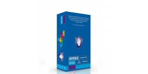 Мед.смотров. перчатки нитрил., н/с, н/о, S&C TN303(XL) 100 пар, голубой