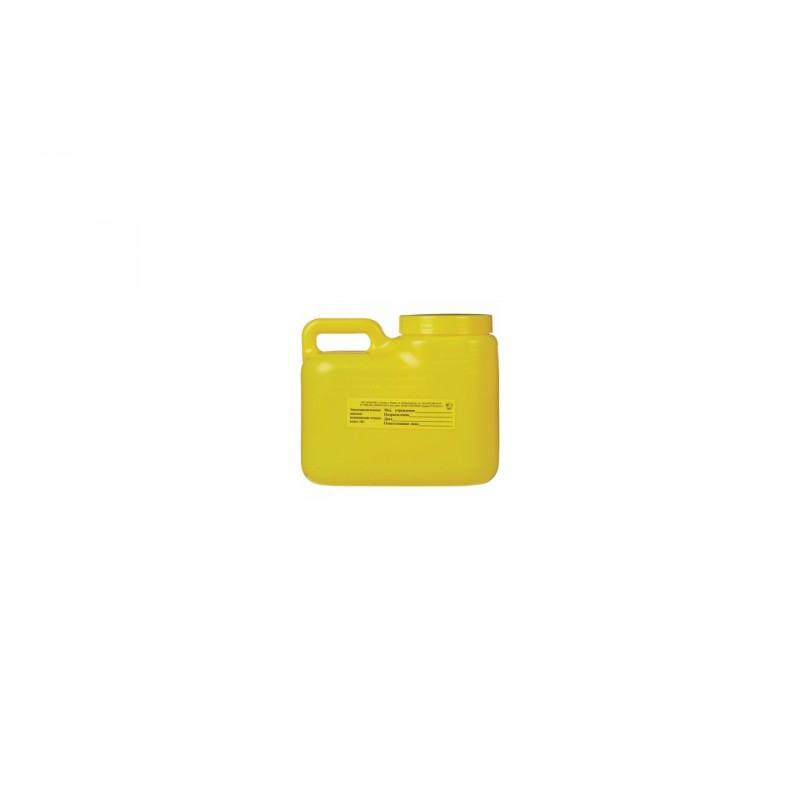 Упаковка д/сбора мед.отходов Емк-контейнер с иглоотсек. Б Желт. 3 л (Олданс)