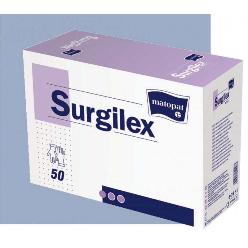 Перчатки SurgiSoft, латексные н/о размер 8.5 стерильные,текстурированный MATOPAT (50пар/упак)