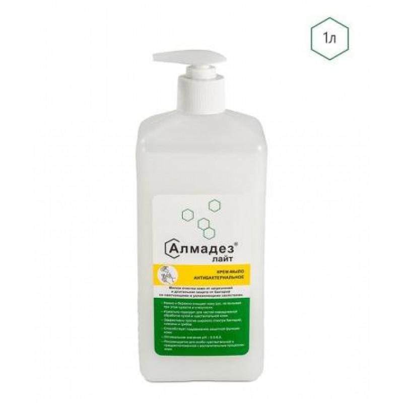 Дезинфицирующее мыло Алмадез-Лайт антибактериальное 1,0 л(диспенсопак)