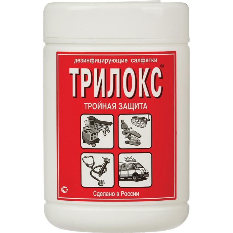 Дезинфицирующие салфетки Трилокс 90 шт в упак., туба