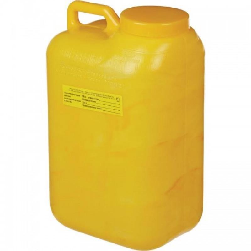 Упаковка д/сбора мед.отходов Емк-контейнер с иглоотсек. Б Желт. 1,5 л, 40 ш,